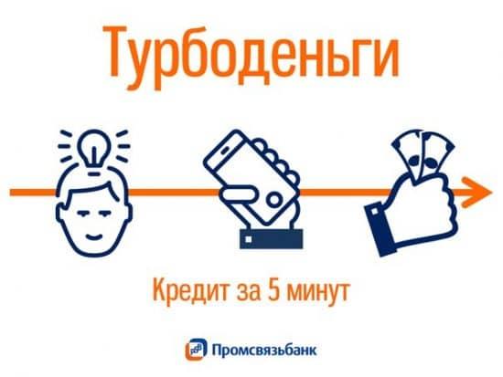 Экспресс-кредит Промсвязьбанка «Турбоденьги»