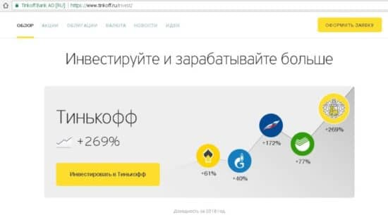Особенности сервиса Тинькофф Инвестиции