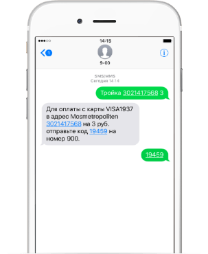 Сбербанк карта Тройка МастерКард: пополнение с помощью смс-сообщения