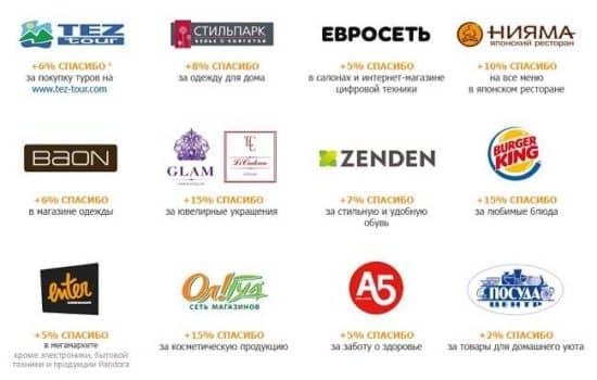 Магазины-партнеры Сбербанка