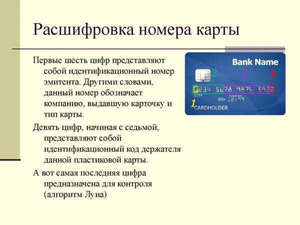 Как можно расшифровать номер карты Сбербанка