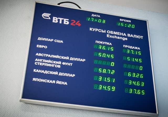 ВТБ обмен валют