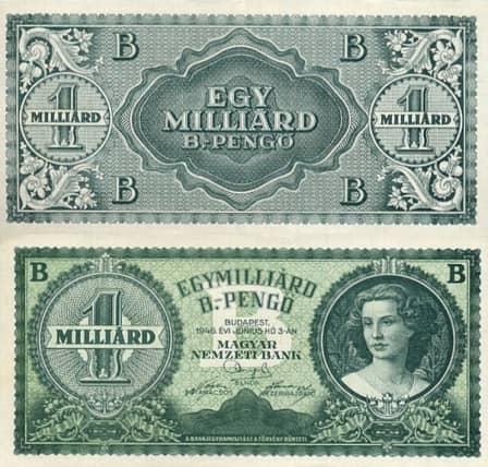 Гиперинфляция в Венгрии в 1945 году: пенгё, милпенгё и билпингё