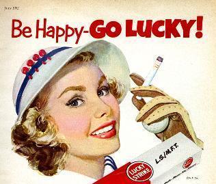 В начале 1930-х сигареты Lucky Strike продвигались как средство для похудения