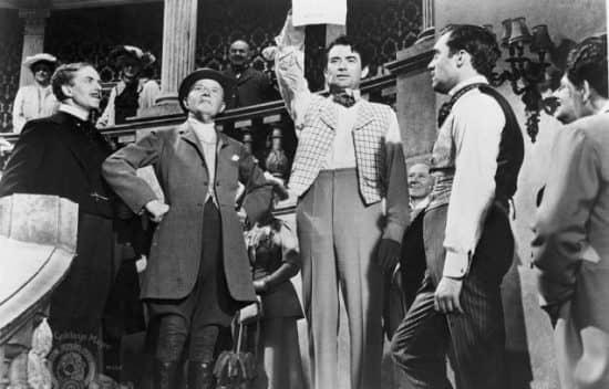 """Сцена из фильма """"Банковский билет в миллион фунтов стерлингов"""" (1954)"""