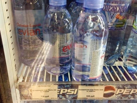 Пример эффекта Веблена: элитная вода